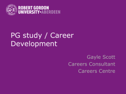 PG study / Career Development