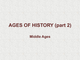 AGES OF HISTORY (part 2)