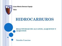 HIDROCARBUROS - Liceo Marta Donoso Espejo