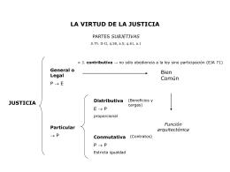 LA VIRTUD DE LA JUSTICIA - UCA Pontificia Universidad
