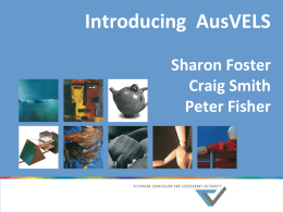 Introducing AusVELS Online PD June 2013