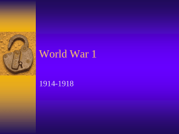 World War 1 - Central Square School District