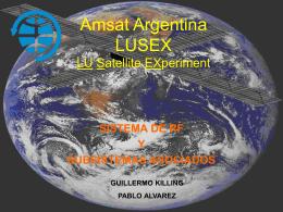 Amsat Argentina LUSEX LU Satellite EXperiment