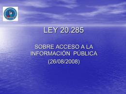 LEY 20.285