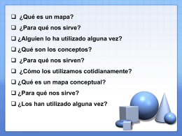 Mapas conceptuales - Multimedia Educativo