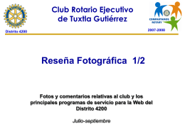 Diapositiva 1 - Distrito 4195 de Rotary International