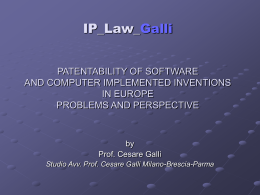 PATENTABILITY OF SOFTWARE AND COMPUTER …