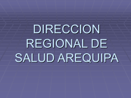 DIRECCION DE SALUD AREQUIPA
