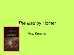 The Illiad by Homer - Brandywine Heights Area School …