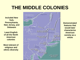 Middle Colonies PPT