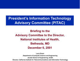 President's Information Technology Advisory …
