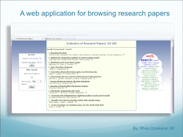 On Building a Custom Research Paper Web Application