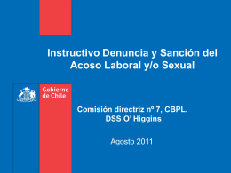 Instructivo acoso laboral ppt