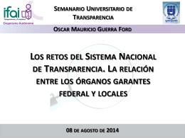 Diapositiva 1 - Instituto Nacional de Transparencia