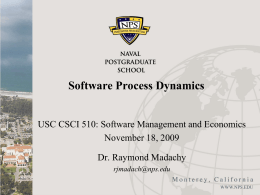 Software Process Dynamics - University of Southern …