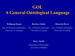 GOL: A General Ontological Language