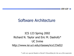 Software Architecture - Donald Bren School of …