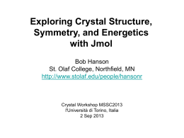 Advanced Jmol - St Olaf College