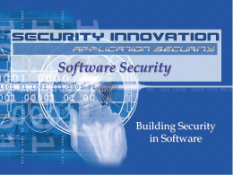 Building Security in Software