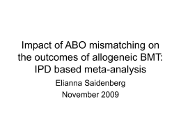 IPD based meta-analysis Powerpoint