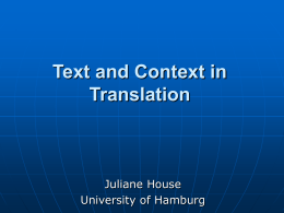 Rethinking the Relationship between Text and Context in