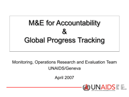 Monitoring and evaluation for accountability and global