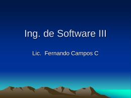 Ing. de Software III