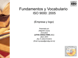 Fundamentos y Vocabulario