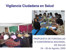 ForoSalud: Vigilancia Ciudadana en Salud