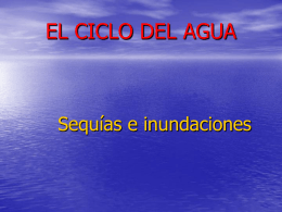 INUNDACIONES Y SEQUIAS