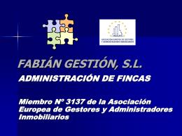 FABIAN GESTION, S.L.