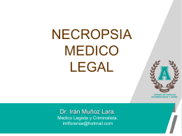 NECROPSIA MEDICO LEGAL