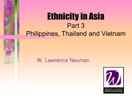 Ethnicity in ASIA