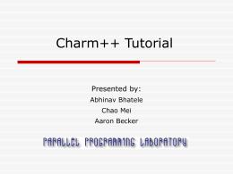 Charm++ Tutorial