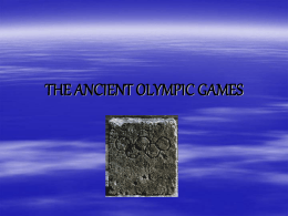 Ancient Olympic Games - Utah Education Network
