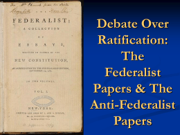 The Federalist Papers - Currituck County Schools / Overview