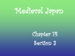 Medieval Japan - SchoolWorld an Edline Solution