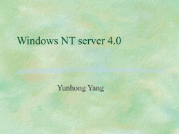 Windows NT server 4.0 vs Linux
