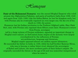 Humayun - Wikispaces