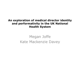 An exploration of medical director identity and