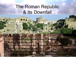 The destruction of Carthage during the Punic Wars. New