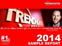 Trend Report, TrendHunter.com