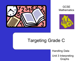 Interpreting Graphs - Sunderland Schools