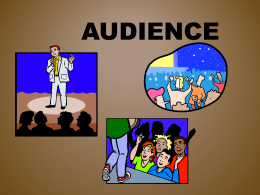 Audience - Book Units Teacher