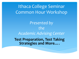 Test Strategies - Ithaca College