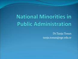 Ethnic Minorities in Public Administration