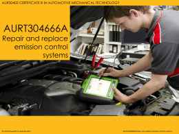 Repair and Replace Emission Control Systems