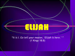 Elijah - Revelation And Creation