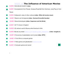 The Influence of American Movies