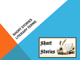 Short Stories Literary Terms